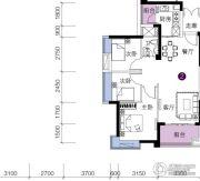 上林苑3室2厅1卫80平方米户型图