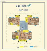 汇嘉・南湾3室2厅2卫86--108平方米户型图