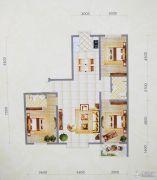 盛世华庭3室2厅2卫141平方米户型图