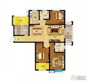 君河湾3室2厅2卫165平方米户型图