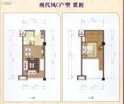 万华城1室2厅1卫45--60平方米户型图