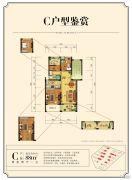 金厦银湖城2室2厅1卫88平方米户型图
