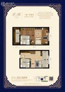 宏泰铂郡1室1厅2卫61平方米户型图