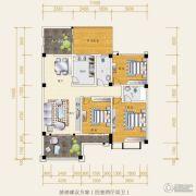 水岸欧韵4室2厅2卫110平方米户型图