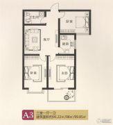 宝盛花语城3室1厅1卫95--99平方米户型图