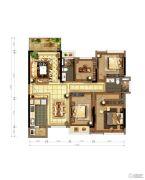 保利心语3室2厅2卫118平方米户型图