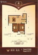 滨河龙韵2室2厅1卫87平方米户型图