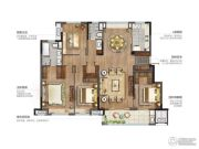 中南万科大都会4室2厅2卫155平方米户型图