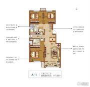 郑北孔雀城3室2厅2卫117平方米户型图