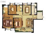 实地玫瑰庄园3室2厅2卫134平方米户型图