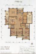 大港御景新城3室2厅2卫133平方米户型图