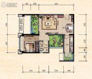 珠江城1室2厅0卫50平方米户型图