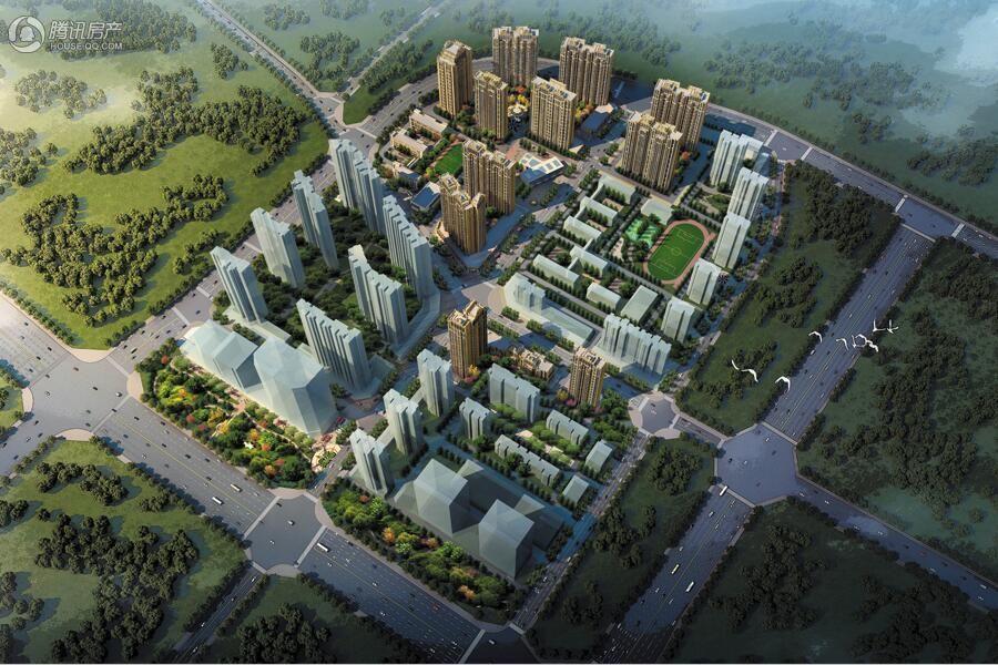 五建新街坊整体鸟瞰图