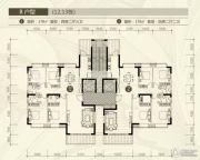裕和天地4室2厅3卫178平方米户型图