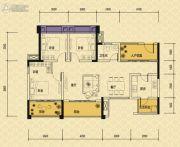 依城郡3室2厅1卫110平方米户型图