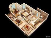 宏升物华天宝五期2室2厅1卫64平方米户型图