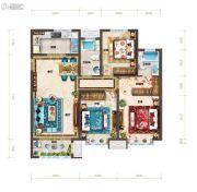 红星・紫御半山3室2厅2卫127平方米户型图