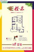 博德沣柳国际2室2厅1卫92平方米户型图