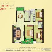 河畔花城3室2厅2卫126--131平方米户型图