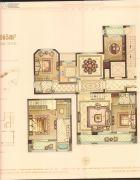 华鸿万墅4室2厅2卫165平方米户型图