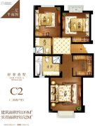 碧桂园海昌天澜139平方米户型图
