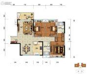美的・明湖3室2厅2卫125平方米户型图