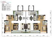 宝丰新城3室2厅2卫100平方米户型图