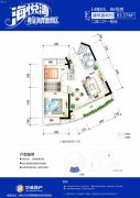 海悦湾2室2厅1卫83平方米户型图