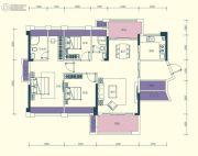 汇显城市公园3室2厅2卫122平方米户型图