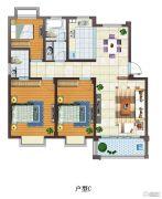 富源尚城3室2厅1卫108平方米户型图