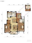 远洋雁归里3室2厅2卫89平方米户型图