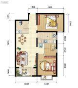 山海城邦・马街摩尔城3室2厅1卫94平方米户型图