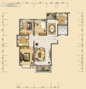 紫御澜庭3室2厅1卫121平方米户型图