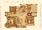 大华锦绣华城3室2厅2卫142平方米户型图