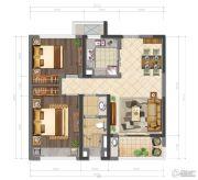 鲁能公馆2室2厅1卫78平方米户型图