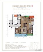 融创玖樟台4室2厅2卫140平方米户型图