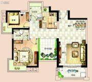 依岸康堤3室2厅2卫85平方米户型图