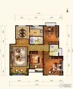 依云墅3室2厅2卫134平方米户型图