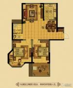 金鼎名府2室2厅1卫105平方米户型图