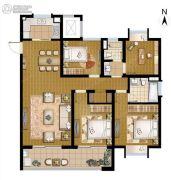 招商学府18724室2厅2卫140平方米户型图