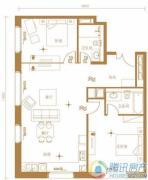 北京ONE2室2厅2卫115平方米户型图