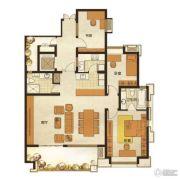 长发都市诸公3室2厅2卫115平方米户型图