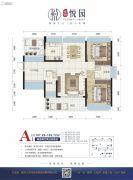 悦园2室2厅2卫107--109平方米户型图