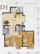 渤海明珠3室2厅2卫135平方米户型图