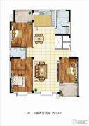 理想城3室2厅0卫138平方米户型图