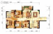 中航城4室2厅2卫105平方米户型图