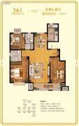 鲁商・金悦城3室2厅2卫137平方米户型图