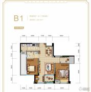 华宇广场2室2厅1卫85平方米户型图