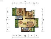 万象国际城2室2厅1卫96平方米户型图