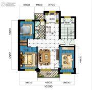 广达公馆3室2厅1卫107平方米户型图